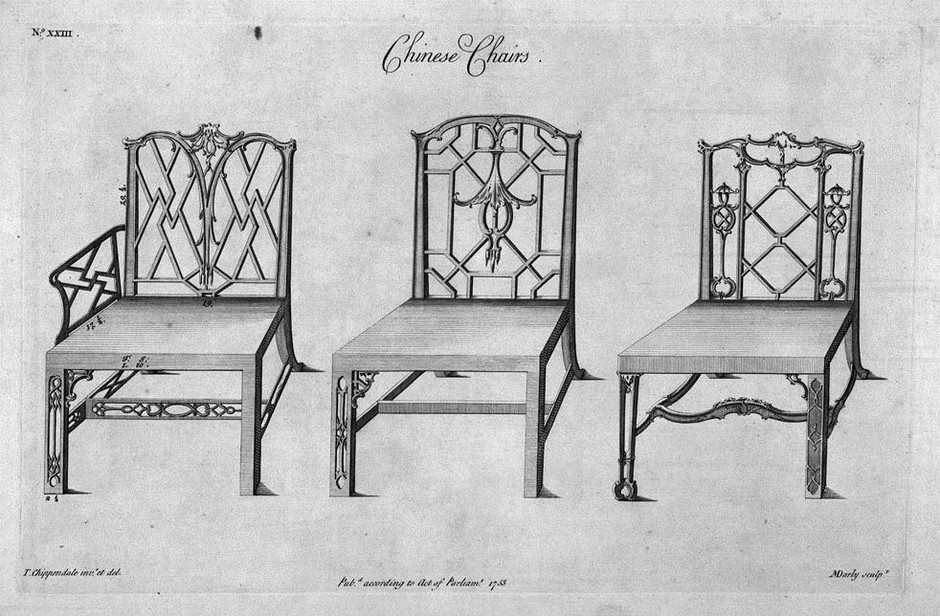 Sketches of Thomas Chippendale's Chair Designs
